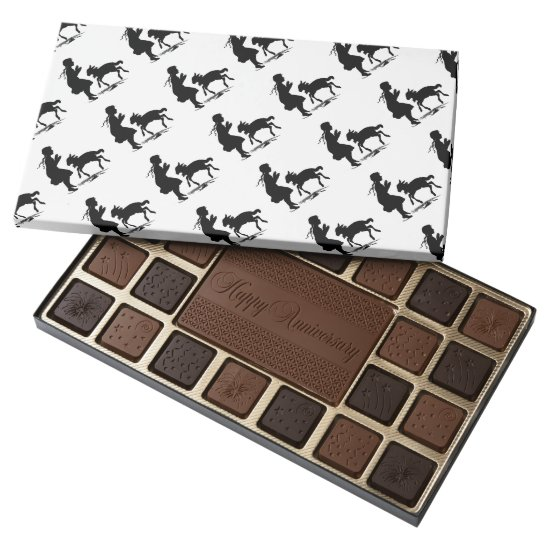 Little Girl Plays with Lamb Assorted Chocolates
