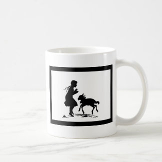 Little Girl Plays with Lamb Coffee Mug