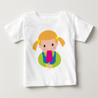 Little Girl Popsicle Baby T-Shirt