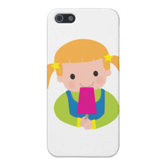 Little Girl Popsicle Cases For iPhone 5