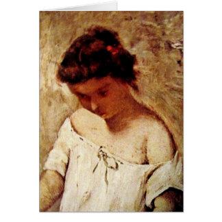 Little girl Portrait Card