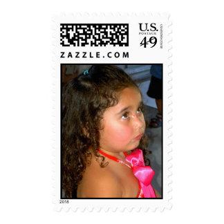 little girl postage stamp