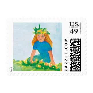 Little girl postage stamps