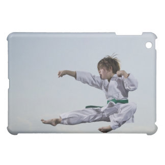 Little girl practicing karate iPad mini case