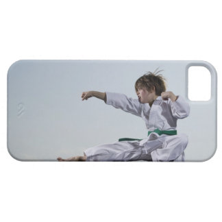Little girl practicing karate iPhone SE/5/5s case