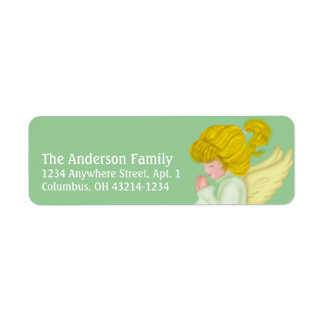 Little Girl Praying Angel 2 Return Address Labels
