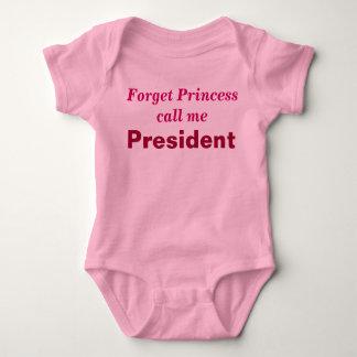 Little girl President creeper. T-shirt