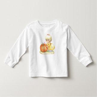 Little Girl & Pumpkin Toddler Long Sleeves Tee