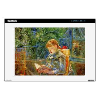 """Little girl, reading by Berthe Morisot Skin For 13"""" Laptop"""