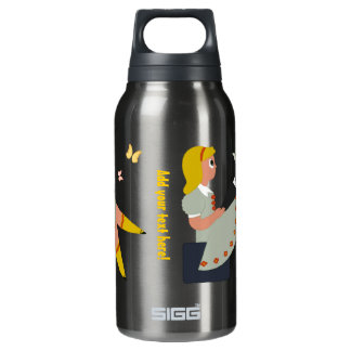 Little Girl Reading Insulated Water Bottle