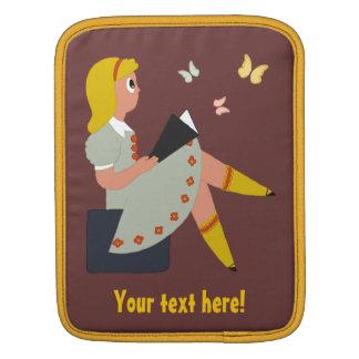 Little Girl Reading Sleeve For iPads