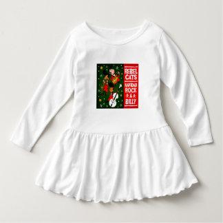 little girl  rockabilly christmas dress infant dress