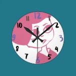 Little Girl Round Clock