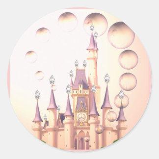 Little Girl s Princess Castle Birthday Invitations Sticker