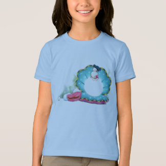 Little Girl Sitting on a Pearl Shirt