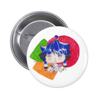little girl snacking button