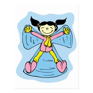 Little Girl Snow Angel Postcards