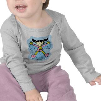 Little Girl Snow Angel T-shirt