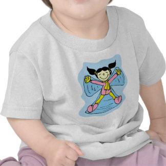 Little Girl Snow Angel Tshirt