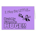 Little girl SOCCER Stationery Note Card