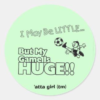 Little girl SOCCER Round Sticker