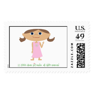 little girl stamps