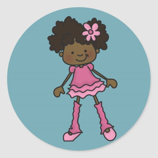 Little Girl Stickers