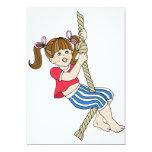 "Little Girl Swinging on Rope 5"" X 7"" Invitation Card"