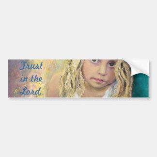 Little Girl - Trusting Eyes Car Bumper Sticker