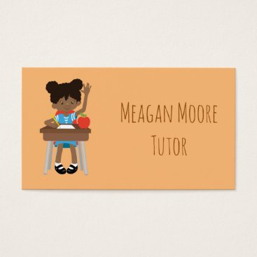 Beach Themed Little girl tutoring business card