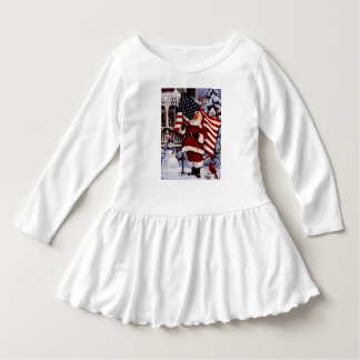 little girl  usa santa dress