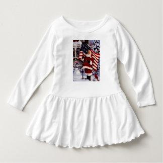 little girl  usa santa dress t-shirt