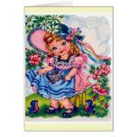 Little girl vintage card