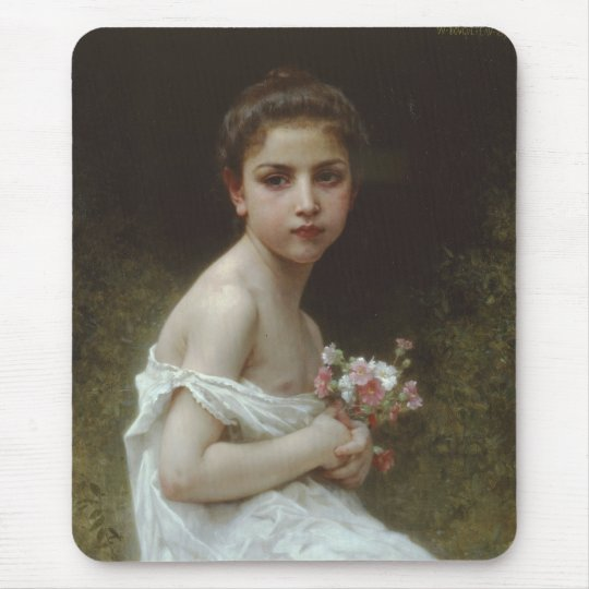 Little Girl With A Bouquet Mouse Pad