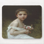Little Girl With A Bouquet Mousepads