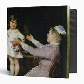 Little Girl with a Doll and Her Nurse, 1896 3 Ring Binder