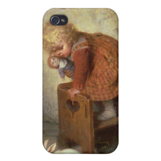 Little Girl with a Rabbit iPhone 4 Covers
