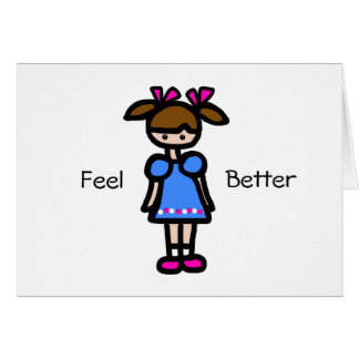 Little Girl With Blue Dress Cards
