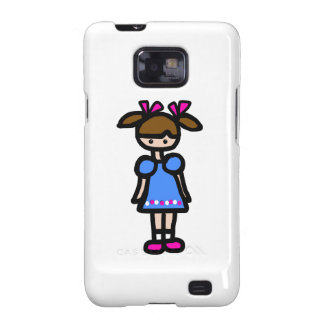 Little Girl With Blue Dress Samsung Galaxy S2 Cases