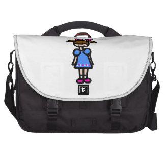 Little Girl With Blue Dress Commuter Bag