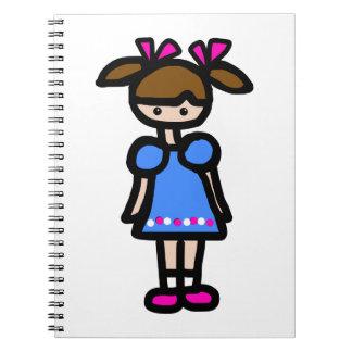 Little Girl With Blue Dress Journal