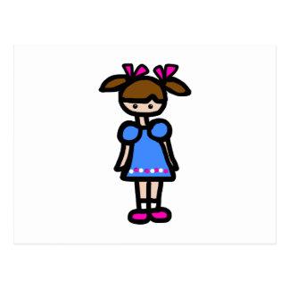 Little Girl With Blue Dress Postcard