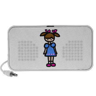 Little Girl With Blue Dress Speakers