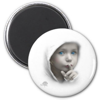 Little Girl with blue eyes Magnet