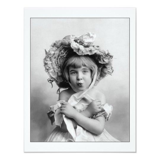 Little Girl with Bonnet Card