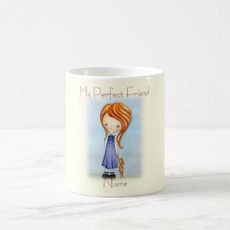 Little Girl with Bunny Plush Friend Coffee Mug