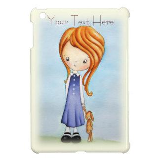 Little Girl with Bunny Plush Friend iPad Mini Case