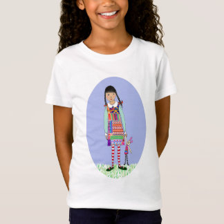 Little girl with bunny toy T-Shirt