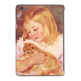 Little Girl with Cat iPad Mini Cover