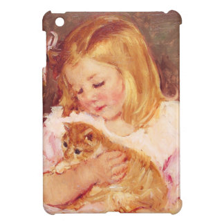 Little Girl with Cat iPad Case